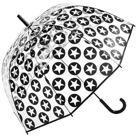 susino Clear Dome – Paraguas Estrellas, color negro