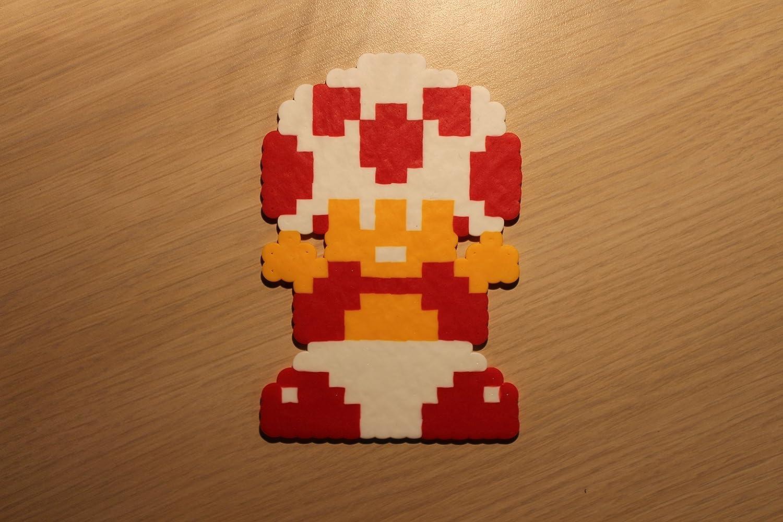 Amazon.com: Toad Pixel Art Bead Sprite from Super Mario Bros ...