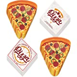Pizza Party Supplies - Pizza Slice Shaped Dinner Plates & Pizzeria Luncheon Napkins (Serves 16)