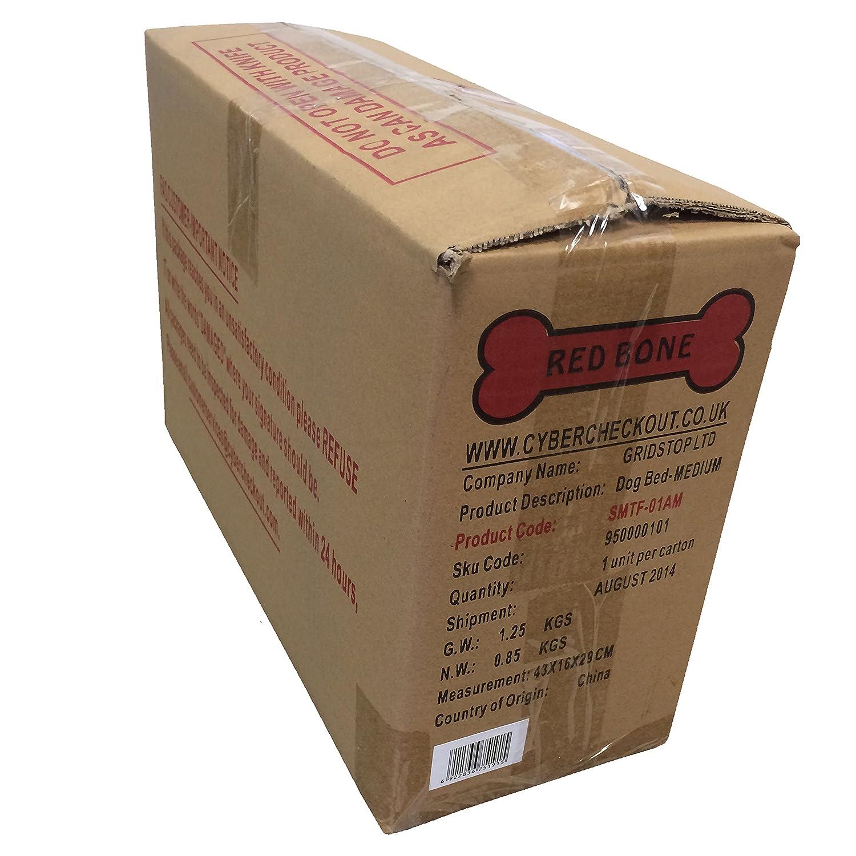 Red Bone Cama Impermeable para Perros - Colchón Colchoneta Cojín (Medio 84cm x 58cm x 5cm): Amazon.es: Hogar