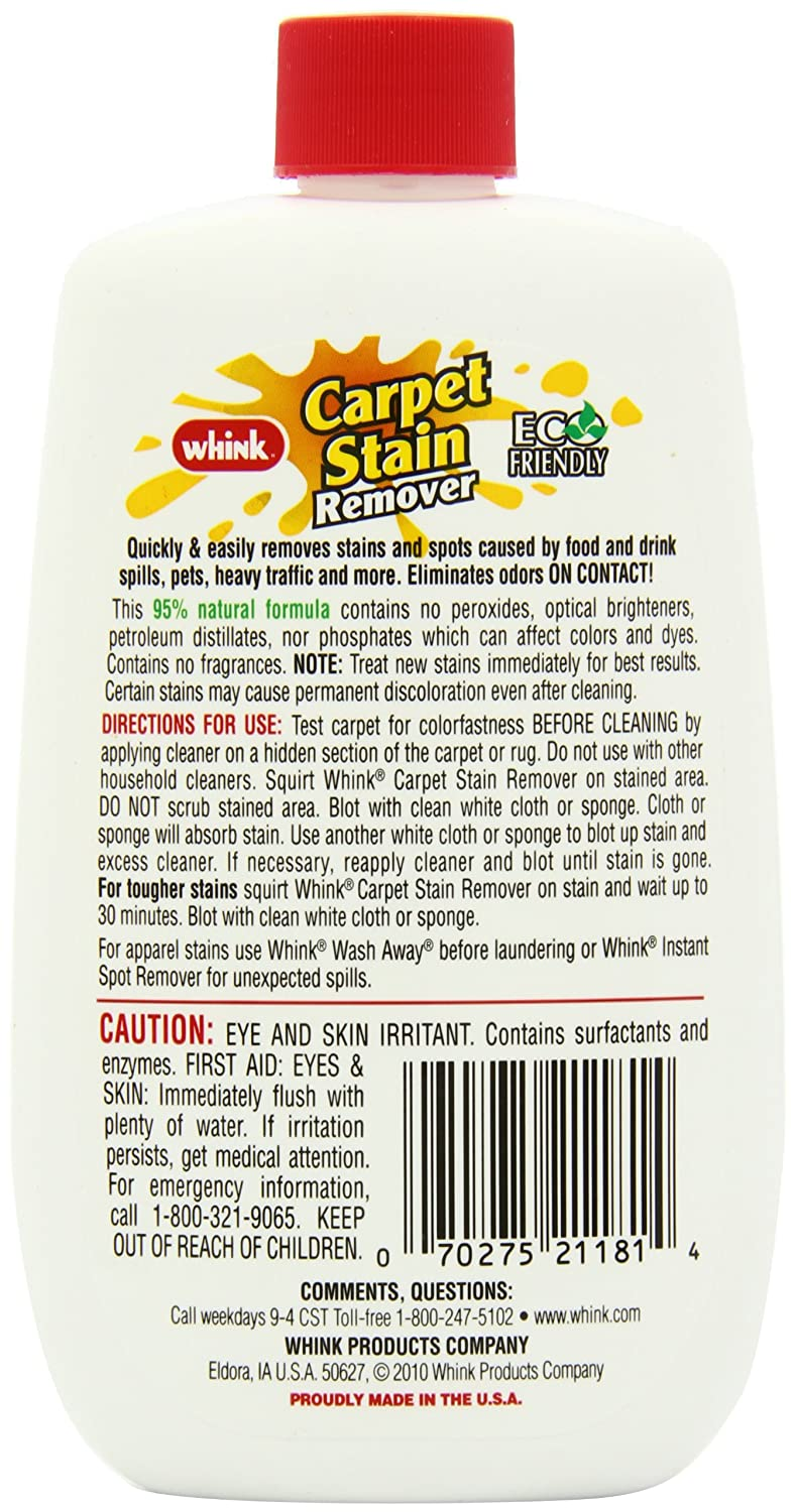 Amazon.com: Whink Carpet Stain Remover, 10-Ounce Bottle (Pack of 6): Health  & Personal Care