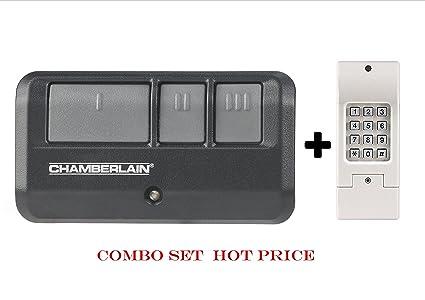 Universal Garage Door Opener Remote Control Replacement Kit Black