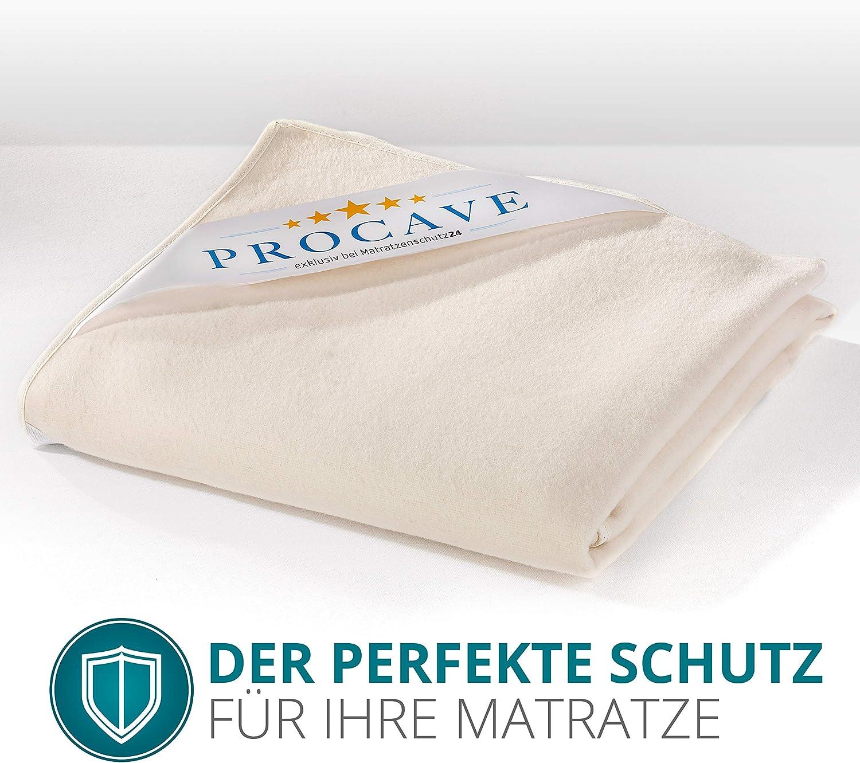 protection pour matelas en 100/% coton prot/ège-matelas PROCAVE sur-matelas en molleton al/èse pour lit fabriqu/é en Allemagne en 80x200cm