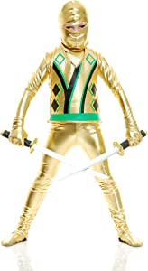 Charades Child Golden Ninja Series III Costumes, Gold, Small