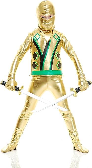Charades Child Golden Ninja Series III Costumes, Gold, Small