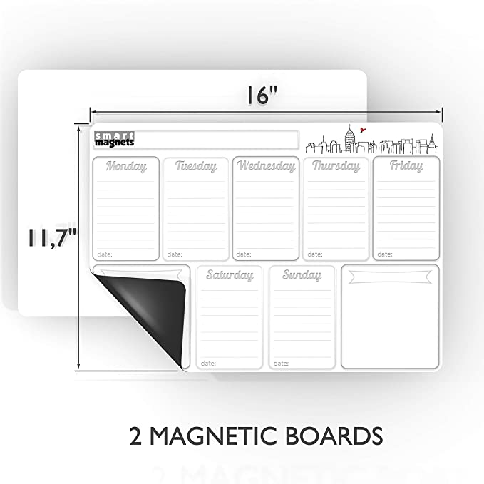 Amazon.com: Juego de tablas de planificador mensual ...