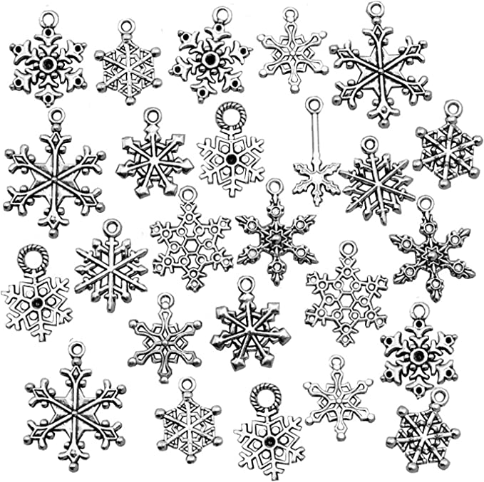 GiftJewelryShop Ancient Style Silver Plate Goofy Monkey Snowflake Charm Pendant Necklace