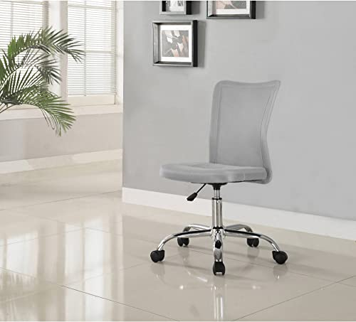 Versatile, Comfortable, Adjustable Breathable Material Mainstays Desk Chair, Multiple Colors, Gray