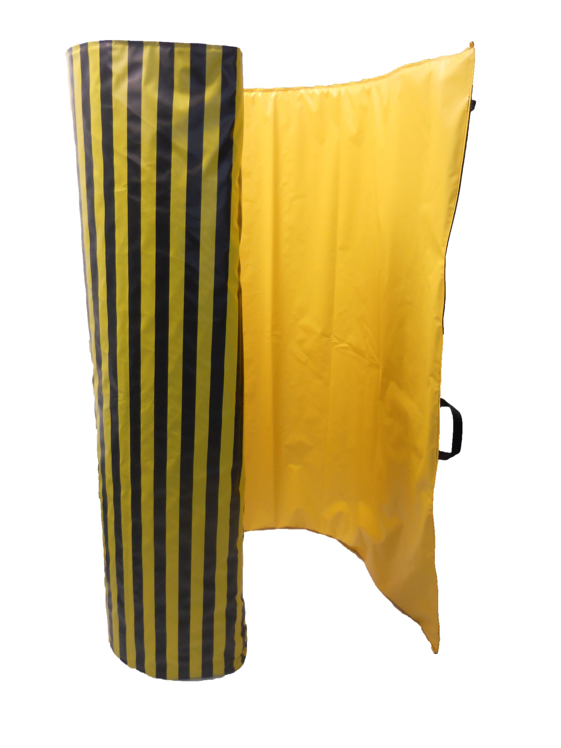 Singer Safety Safety-Stripe Vinyl Roll-Up Safety Screen, 9' Width x 6' Height