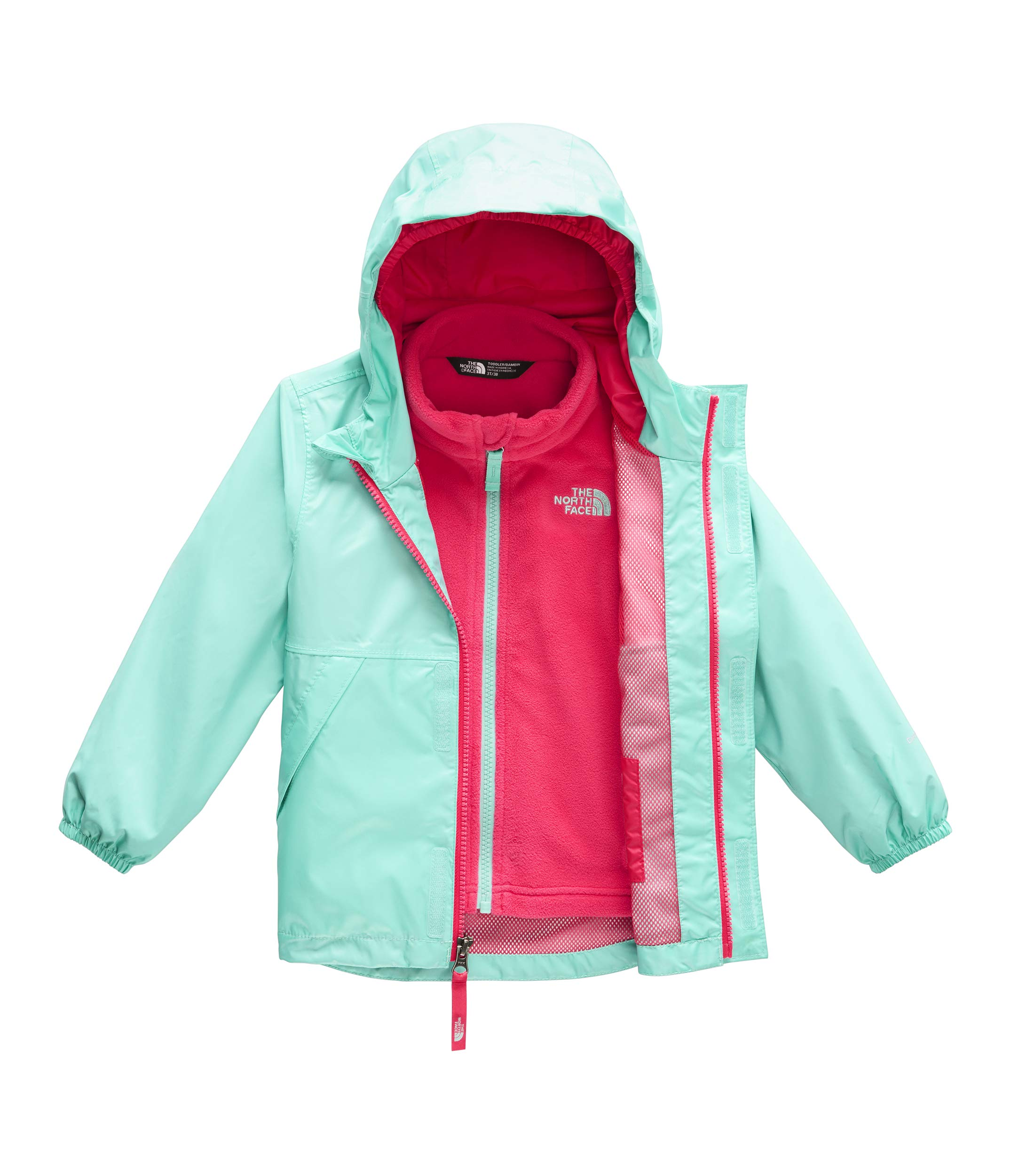 The North Face Toddler Stormy Rain Triclimate, Mint Blue, 3T