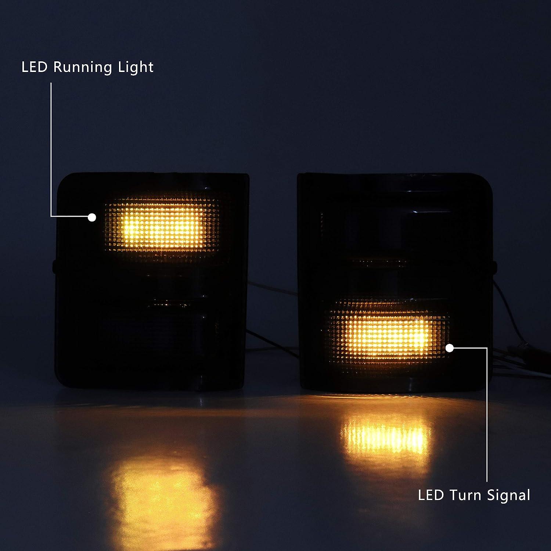 Sanooer LED Side Mirror lens Marker Lights For Ford F250 F350 F450 F550 2008-2016 Turn Signal Lamp