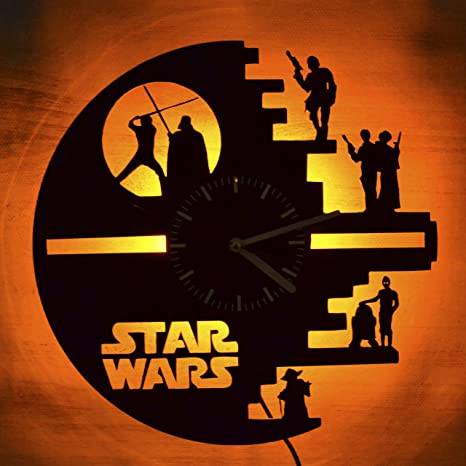 Details about  /LED Vinyl Clock Star Wars LED Wall Decor Art Clock Original Gift 17