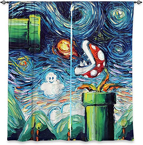 Dia Noche Lined Window Curtains Aja Ann – Van Gogh Never Leveled Up