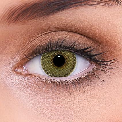 """81023e3a46 Altamente cubriendo las lentes de contacto marrones naturales  coloreadas""""Natural Hazel"""" + contenedor de"""