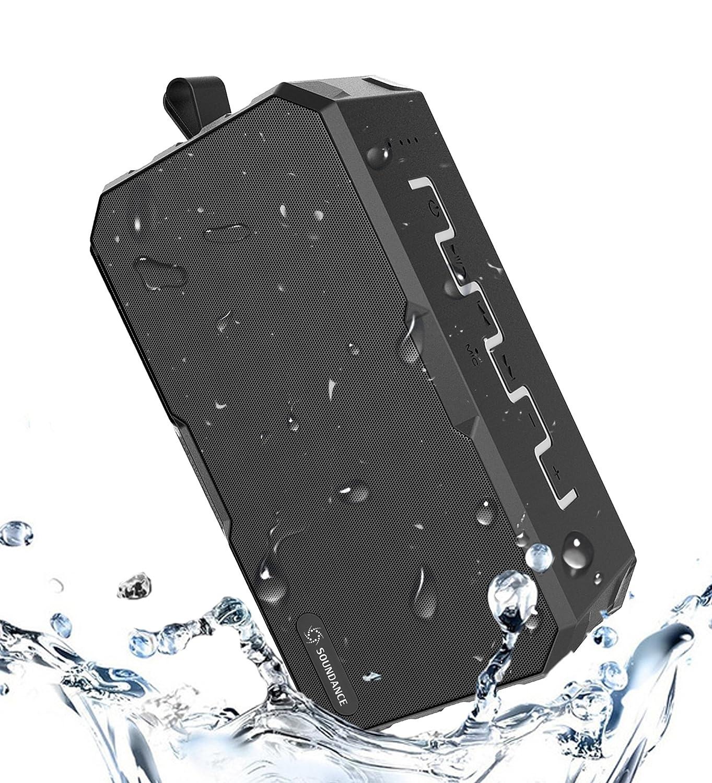 Altavoz Bluetooth impermeable, a prueba de ruidos, para exteriores, 12H de tiempo de juego largo, portátil a prueba de salpicaduras a prueba de salpicaduras para viajes, ducha acampada, F5