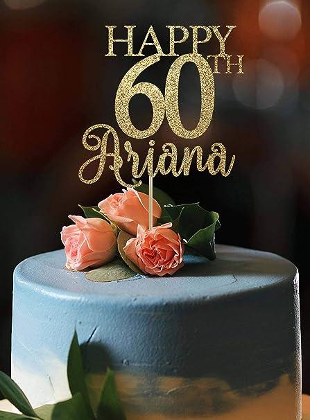 Torta Compleanno 60.Topper Per Torta Di Compleanno 60 Anni 60 Anni Decorazione Per Torta Di Compleanno Width 7 Amazon It Casa E Cucina