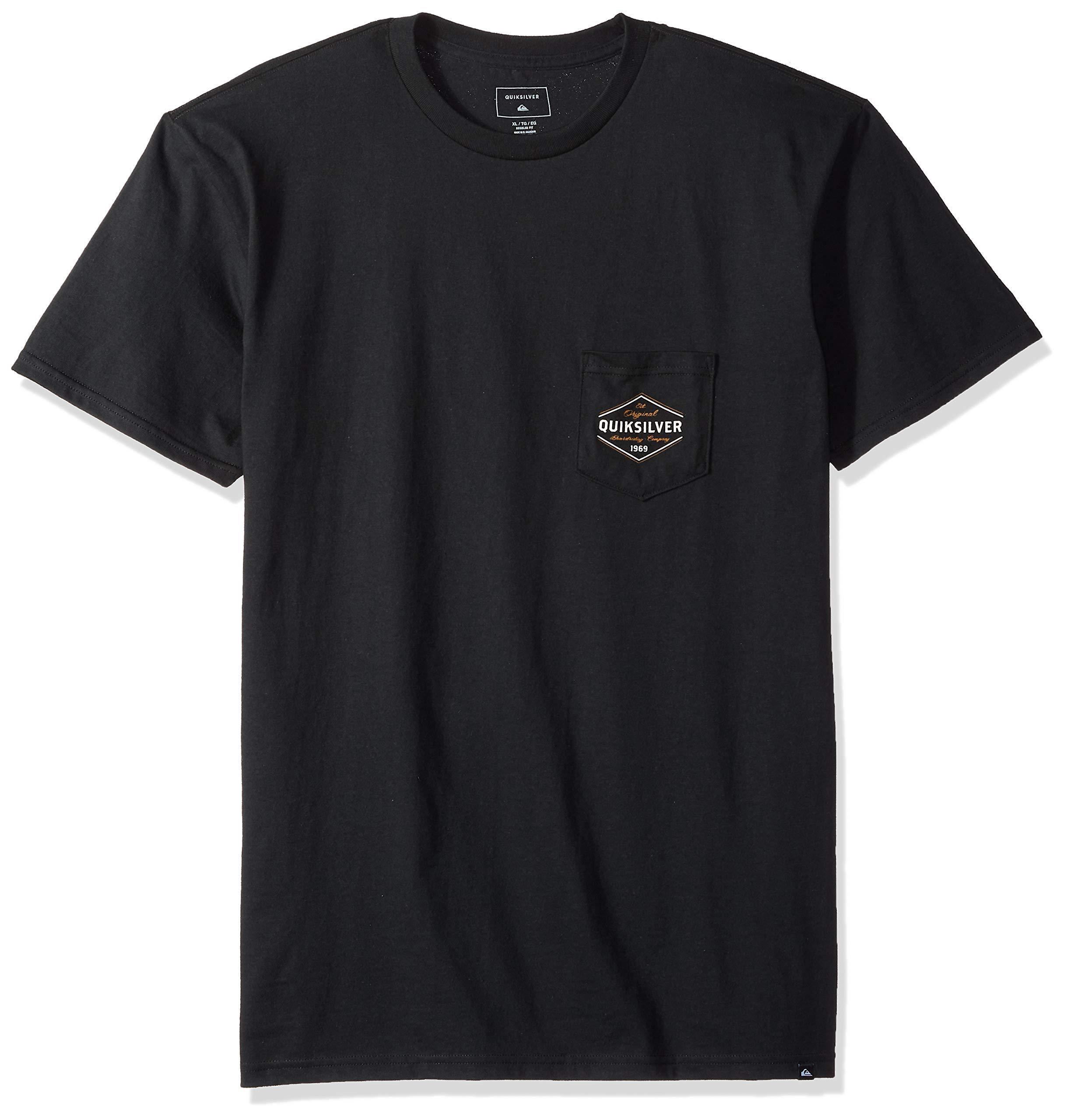 Quiksilver Men's Nowhere North Tee Shirt, Black, XL
