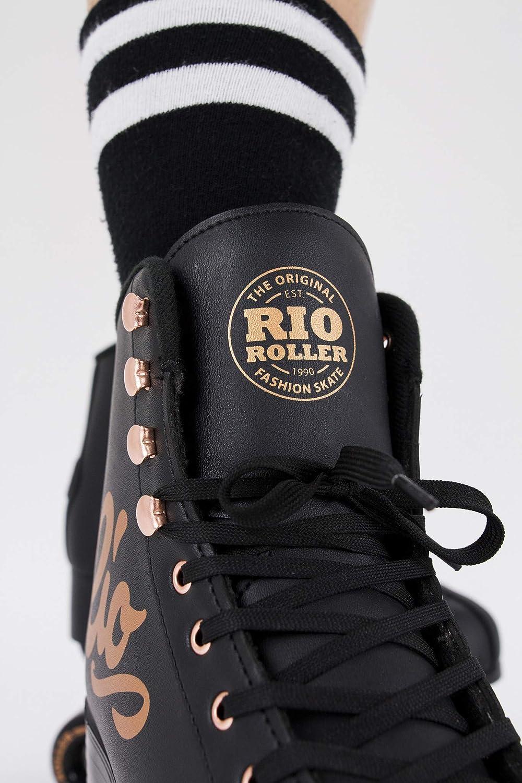 Rio Roller Rose Quad/Roller Skates- Black - 4