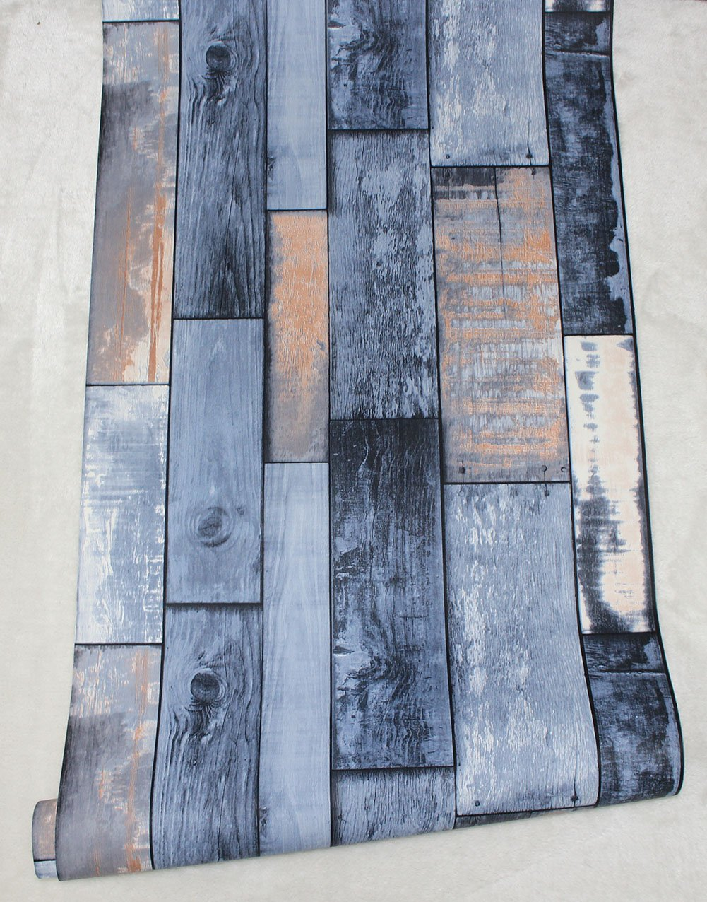 HaokHome S5003 8032 282021 373803 Faux Wood Plank Wallpaper Sample,8-Inch X 10-Inch
