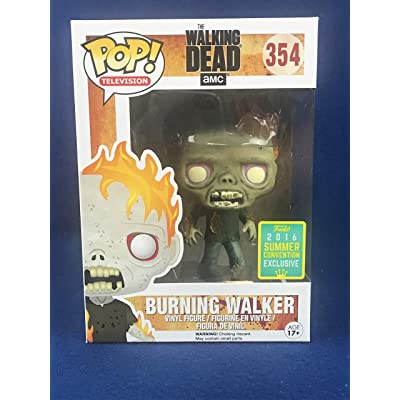 Funko Pop TV: The Walking Dead - Burning Walker 2016 SDCC Exclusive Vinyl Figure: Toys & Games