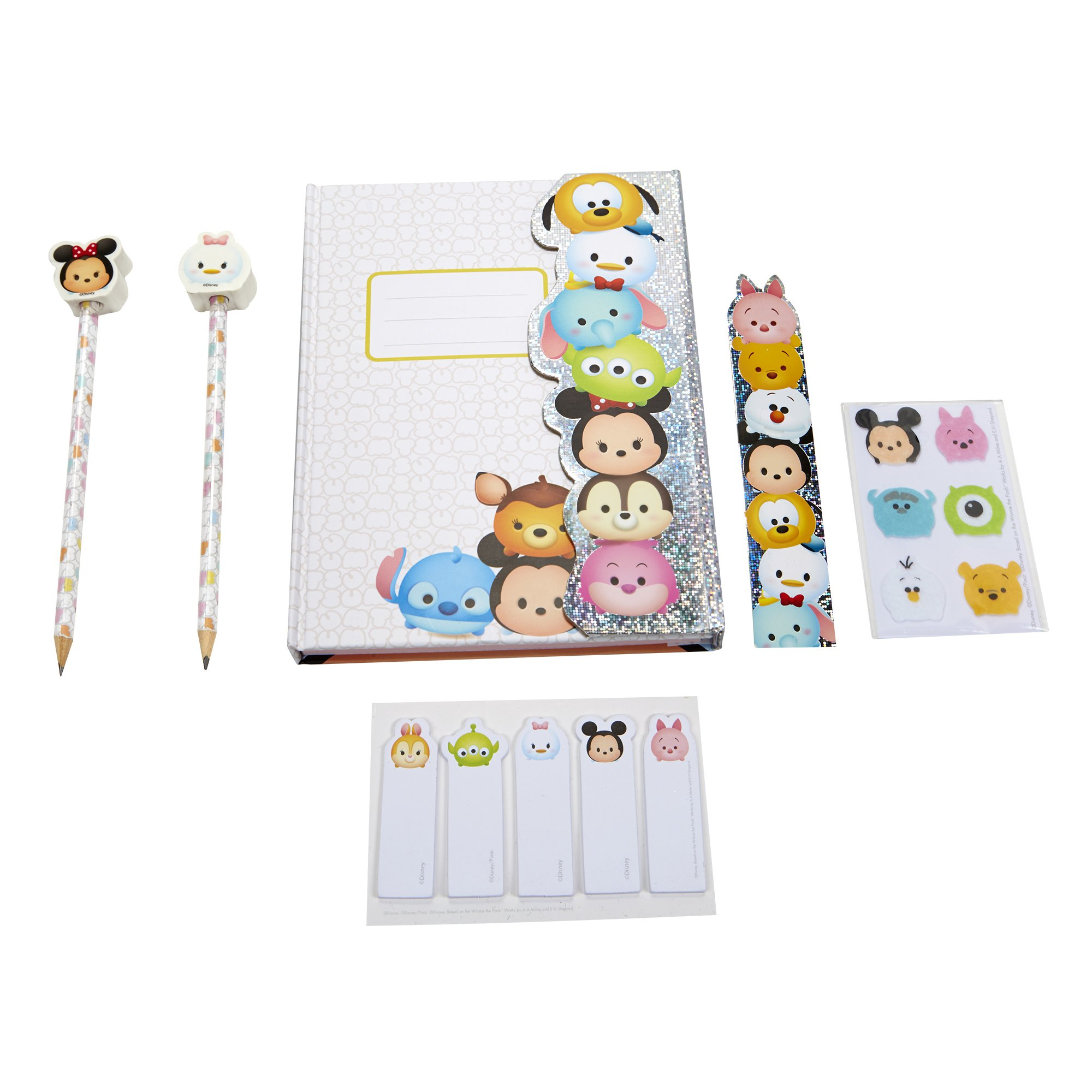 Tsum Tsum Disney Holographic Deluxe Agenda Book with Accessories Playset