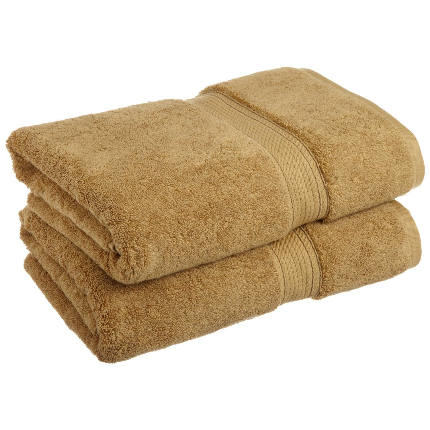 Superior 900 GSM Luxury Bathroom Towels, Made of 100% Premium Long-Staple Combed Cotton, Set of 2 Hotel & Spa Quality Bath Towels - Toast, 30'' x 55'' each