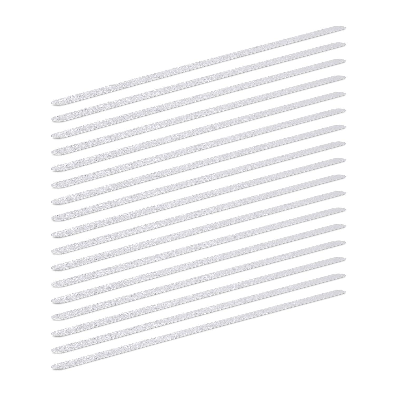 Transparent 60 cm Length Bathtub and Steps Relaxdays Non Slip Strips Anti-Slip Shower Treads for Shower
