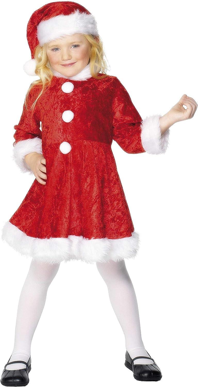 Smiffys- Disfraz de Mini Miss Santa, Rojo, con Vestido y Gorro ...