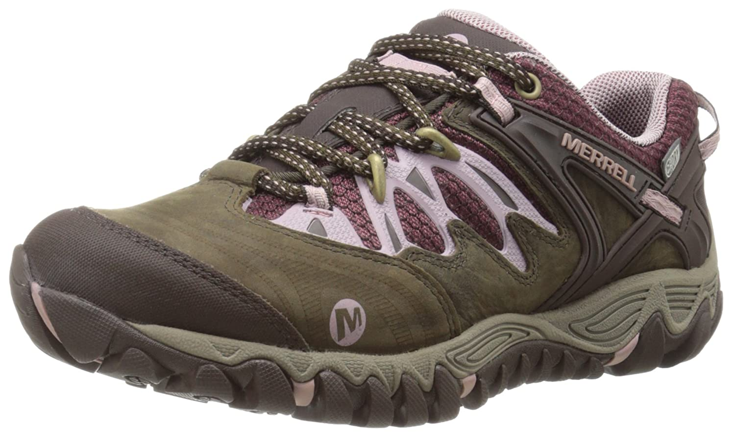 Merrell Women's All Out Blaze Waterproof Hiking Shoe B00D1N40YK 7 B(M) US|Black Slate/Blush