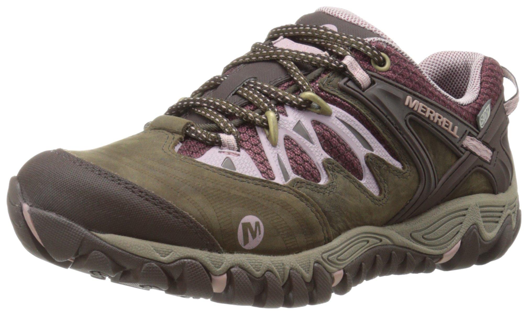 Merrell Women's All Out Blaze Waterproof Hiking Shoe,Black Slate/Blush,9 M US by Merrell