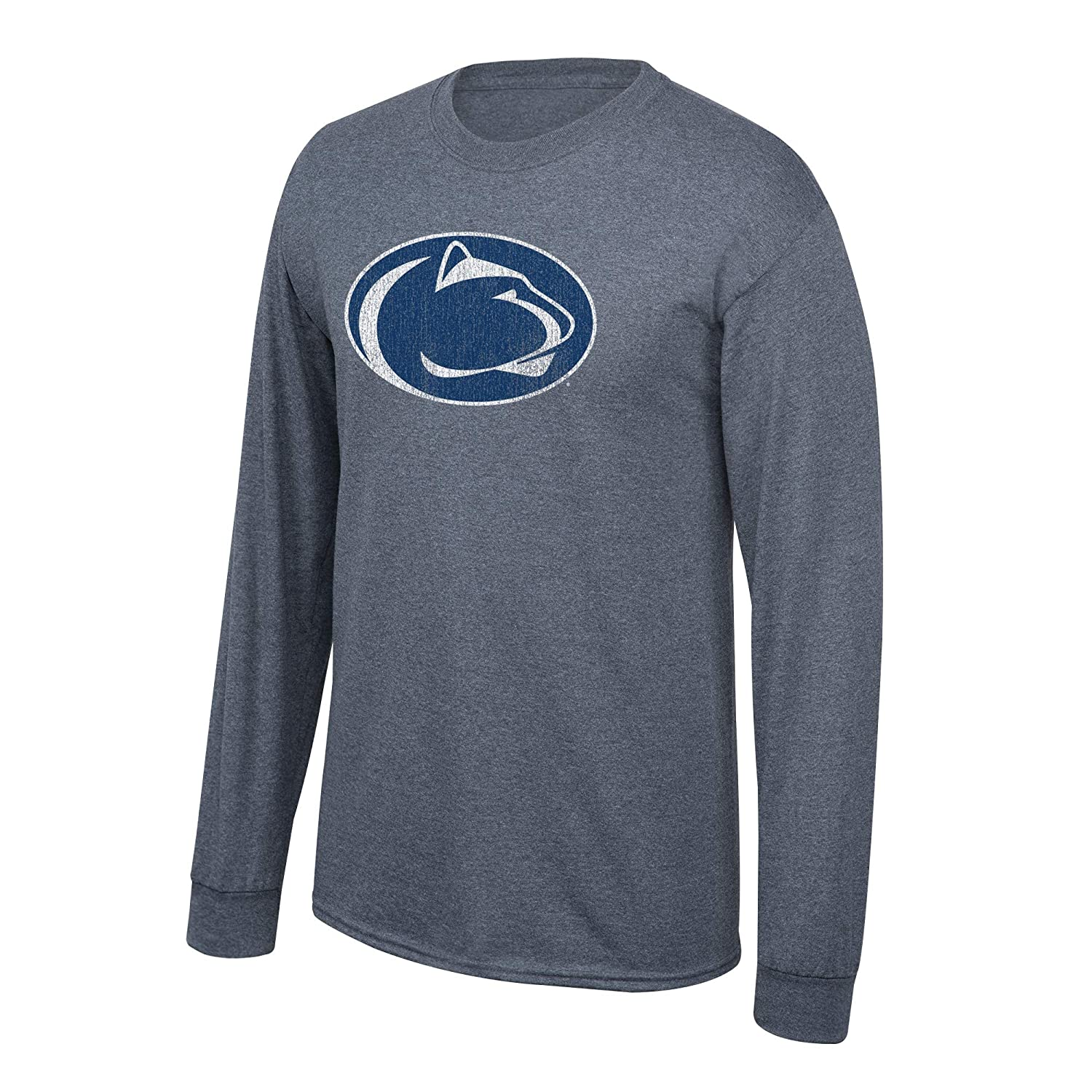 Elite Fan Shop NCAA Mens Penn State Nittany Lions Long Sleeve T Shirt Charcoal Vintage Penn State Nittany Lions Charcoal XX Large