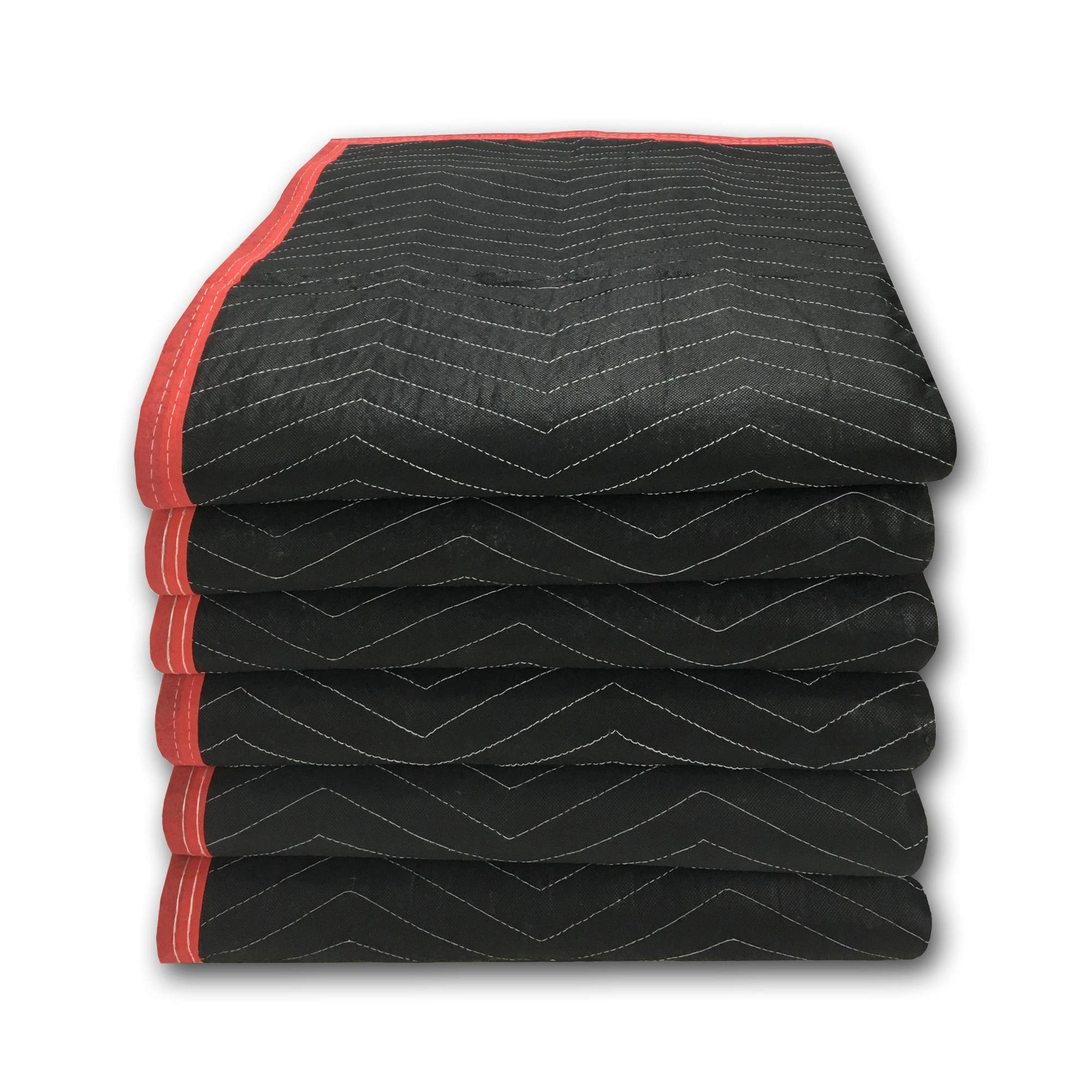 6 Pack of Deluxe Moving Blankets - 5.42lbs/Each - Protective Shipping by Uboxes (Image #1)