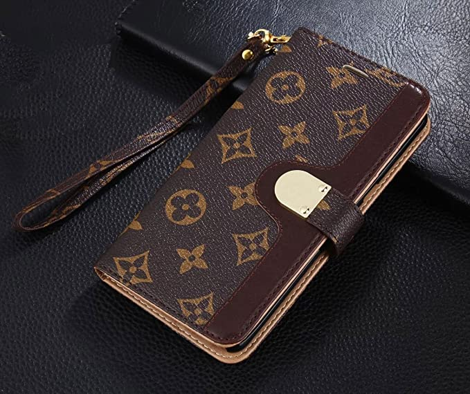 af47824e40404 NiceToYou iPhone Xs Max Case Bifold Monogram Magnetic Leather Flip Filo  Card Cash Clip Strap Wallet Case Cover for Luxury Famous Elegant iPhone Xs  Max ...