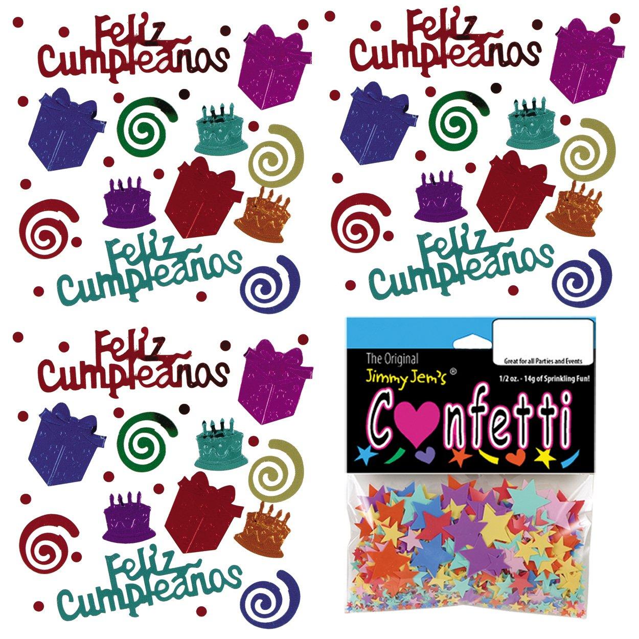 Amazon.com: Confetti MultiShape Birthday Blast Espanol Mix ...