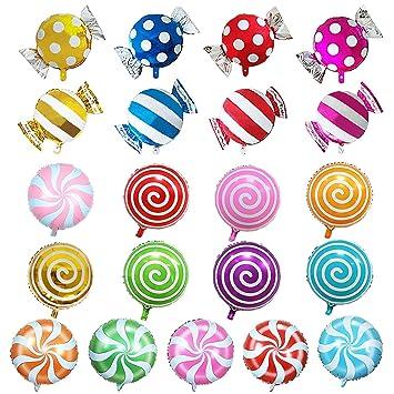 Amazon.com: SOTOGO - Juego de globos de caramelo, 21 piezas ...