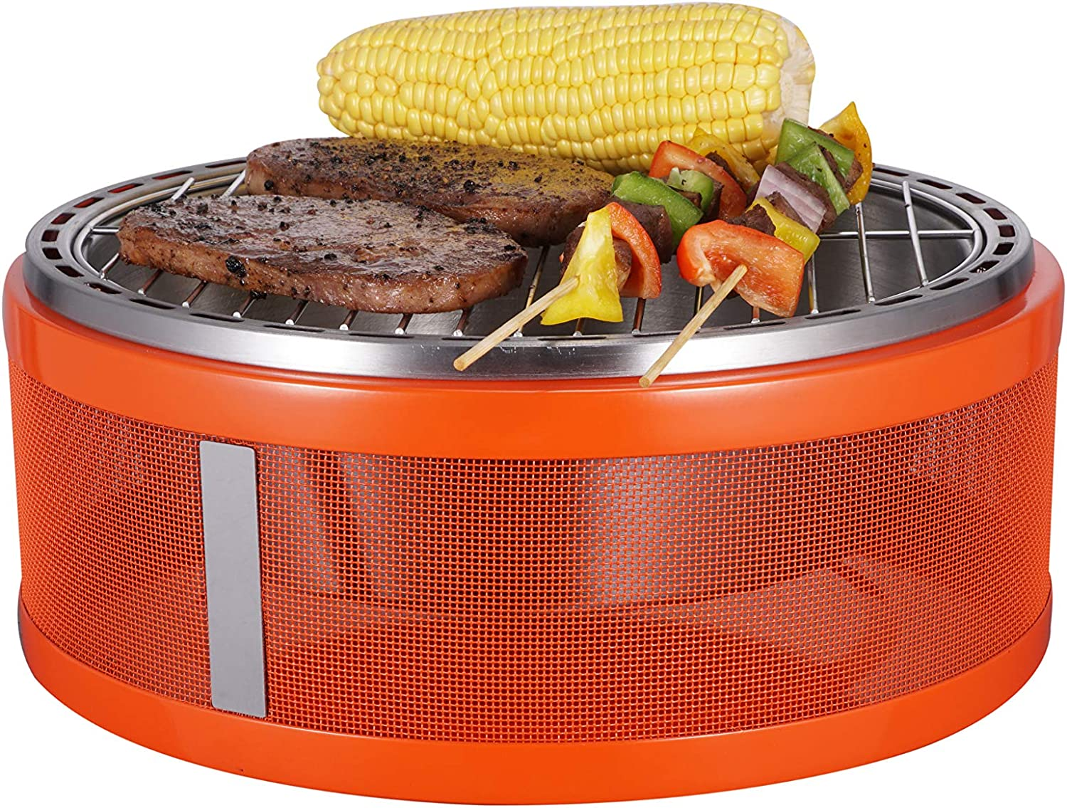 Portable Charcoal Grill,yakitori Grill, portable grill Suitable for Picnic, Garden, Backyard, Camping, Red
