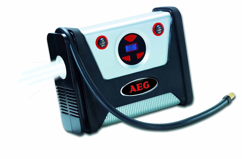 AEG 97136 Compresseur KD 7.0- avec présélection de pression et fonction d'arrêt automatique, éclairage LED, 12volts, max 7 bars / 100 psi accessoire inclus well-wreapped