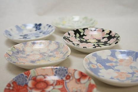 Made in Japan Lot de 6 plats /à sauce en porcelaine Motif fleurs de cerisier