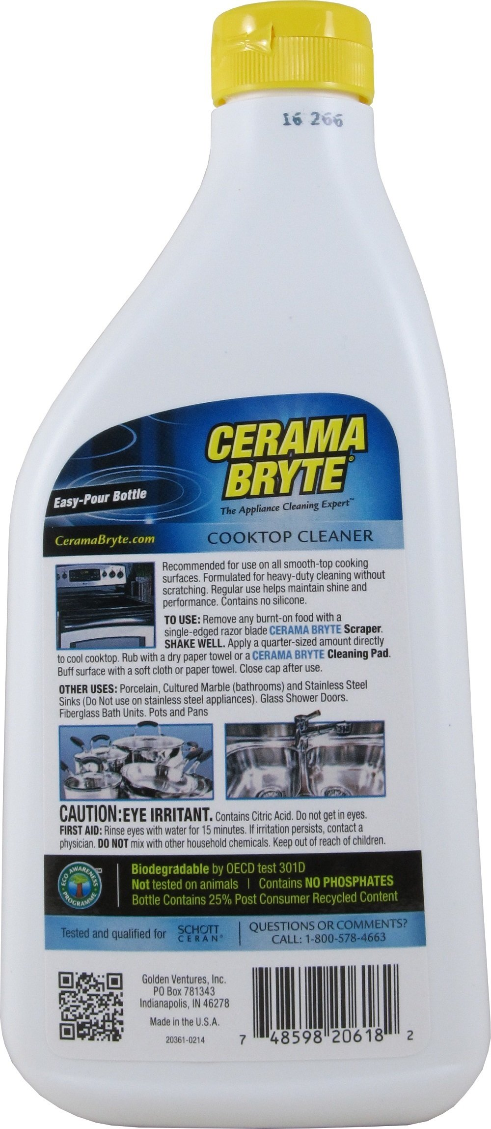 Cerama Bryte Glass-Ceramic Cooktop Cleaner, 28 Ounce, 6 Count by Cerama Bryte
