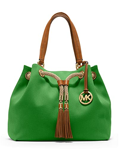 cc1fd2a8f5253e Amazon.com: Michael Kors Marina Large Gathered Tote Green Palm: Shoes