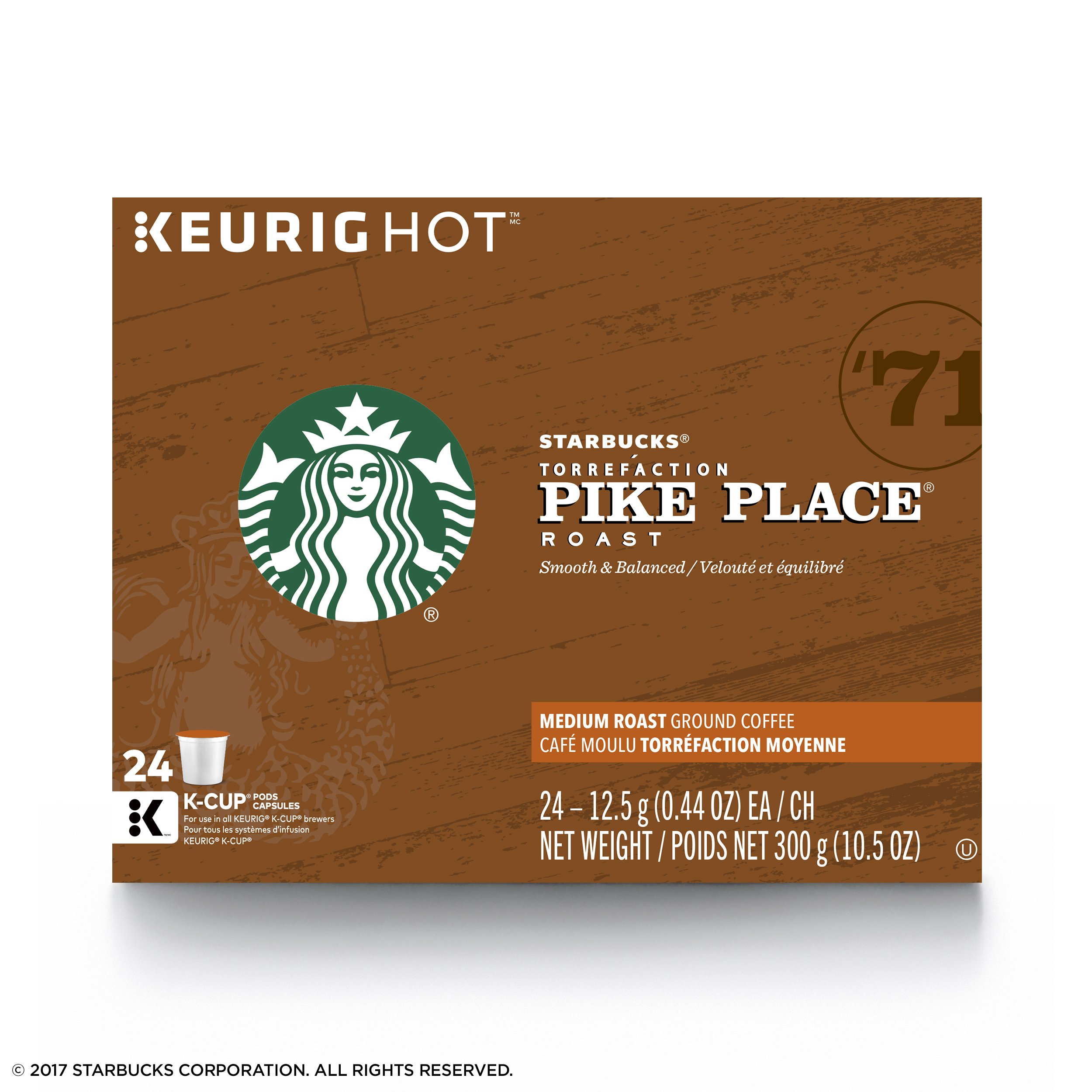 Starbucks Pike Place Roast Medium Roast Single Cup Coffee for Keurig Brewers, 4 boxes of 24 (96 total K-Cup pods) by Starbucks (Image #4)