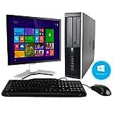 HP Elite 8000 Windows 10 Desktop Computer C2D 3.0 PC 4GB 160GB DVDRW WiFi 19 Inch LCD Monitor - keyboard - Mouse - Power cord