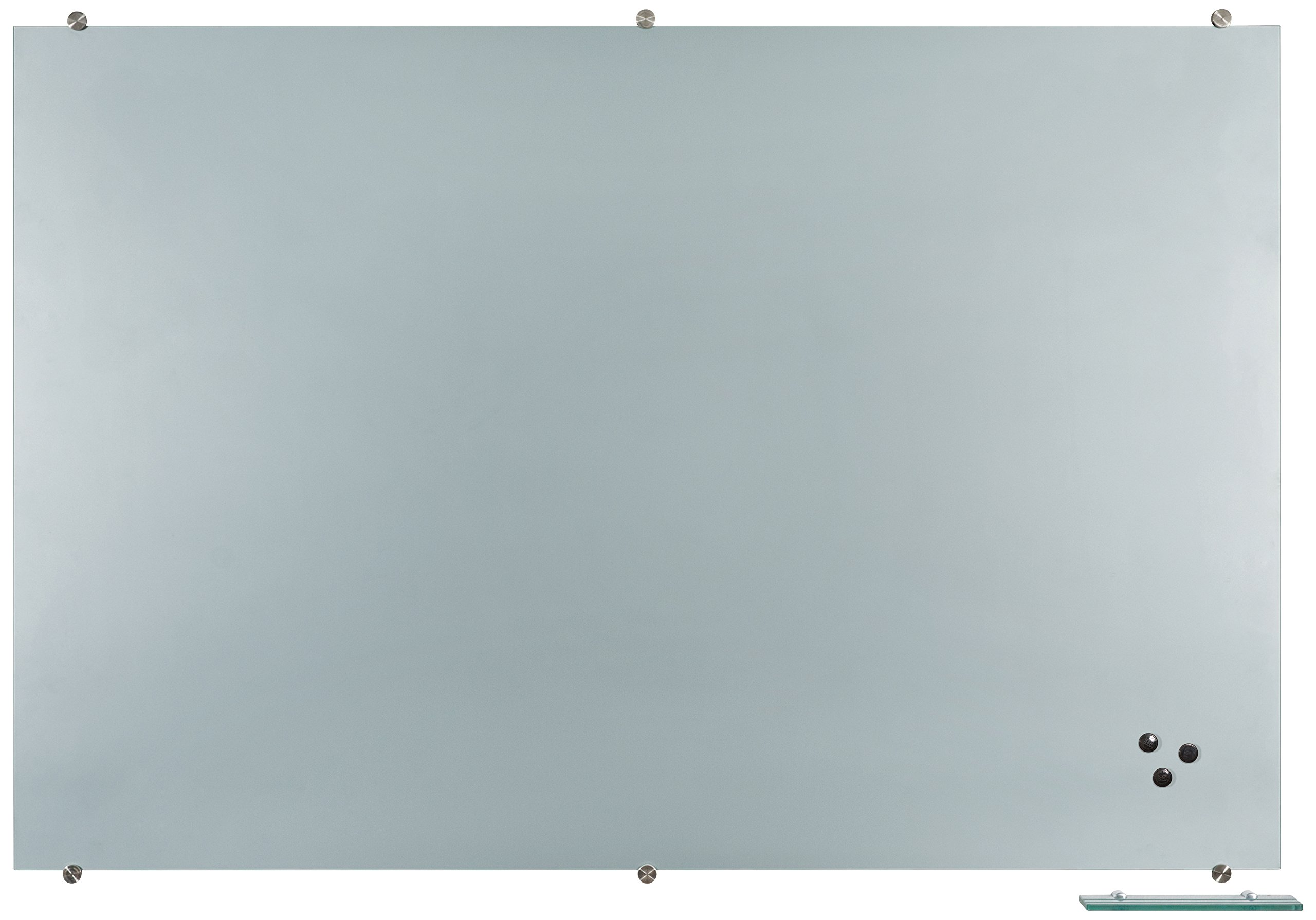 Best-Rite Visionary Projection Magnetic Glass Dry Erase Board, 4 x 6 Feet, Matte Gray Surface  (83850)