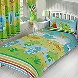 Price Right Home Roar Like a Dinosaur Junior Duvet Cover and Pillowcase Set