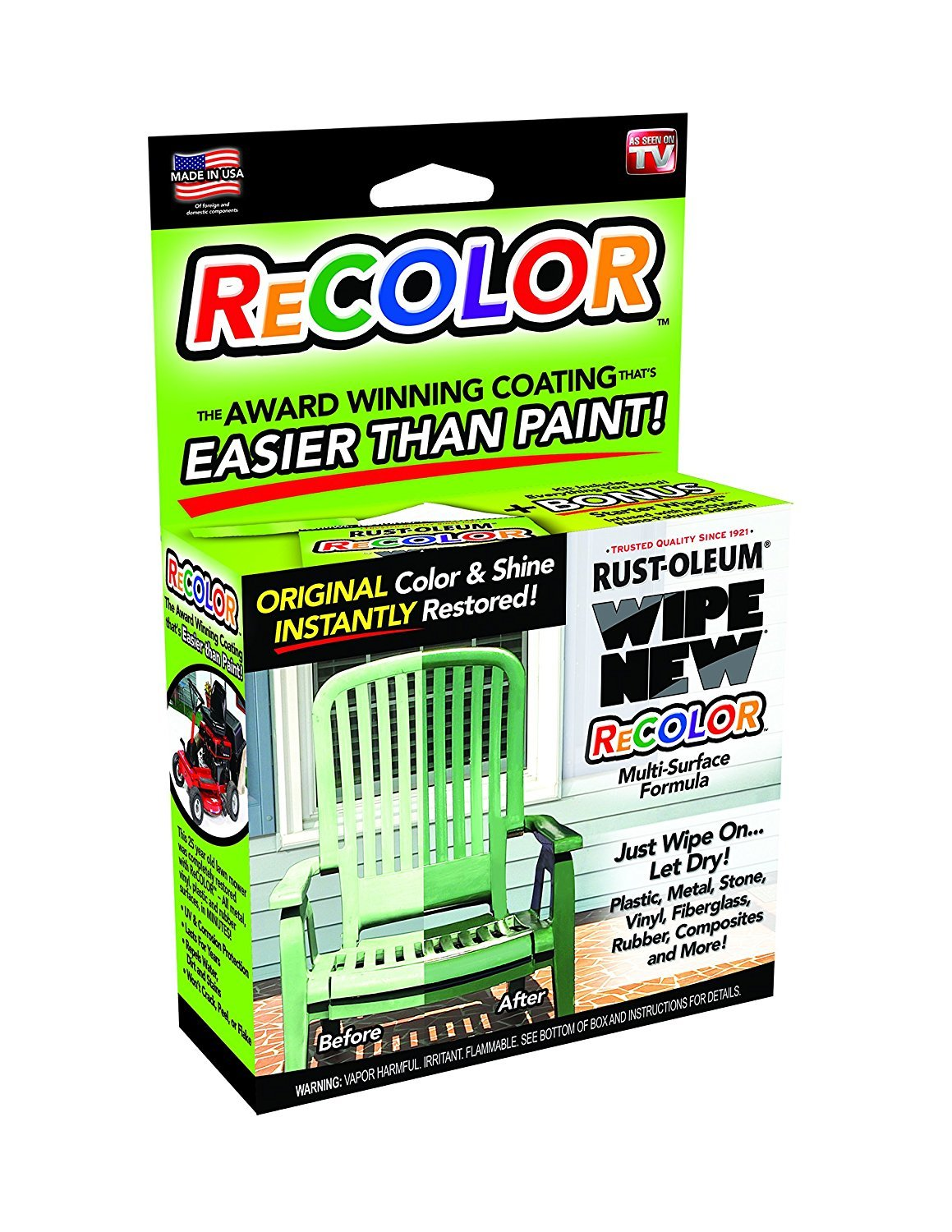 Wipe New Rust-oleum R6PCRTLKIT Recolor Paint Restorer with Wipe-On Applicator