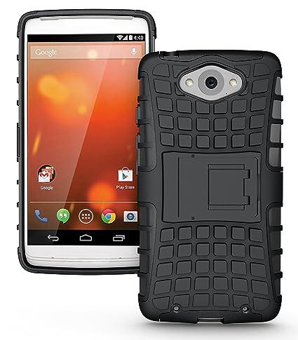 Motorola DROID Turbo (Compatible con fibra de vidrio metalizado Version) Funda, JKase DIABLO