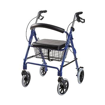 Amazon.com: DMI plegable altura ajustable y ligera 4 ruedas ...