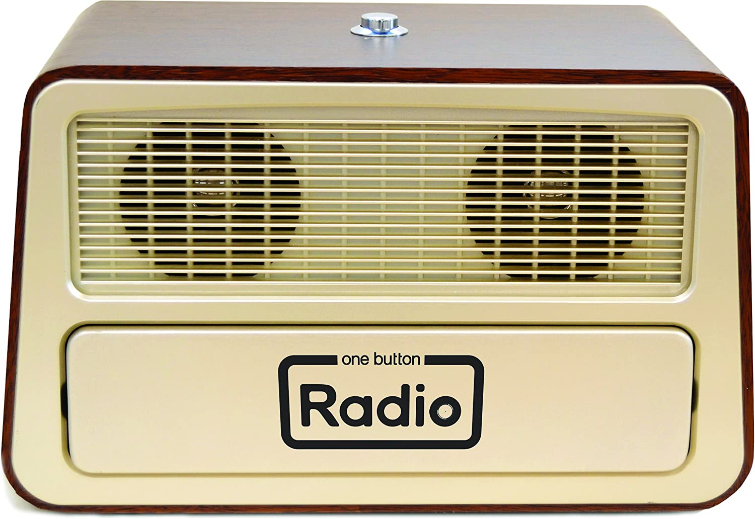 "Memory Loss One Button Radio/Large Analog Retro Style Dementia Radio/Size: 11.75""w x 7.25""h x 6.25""d"