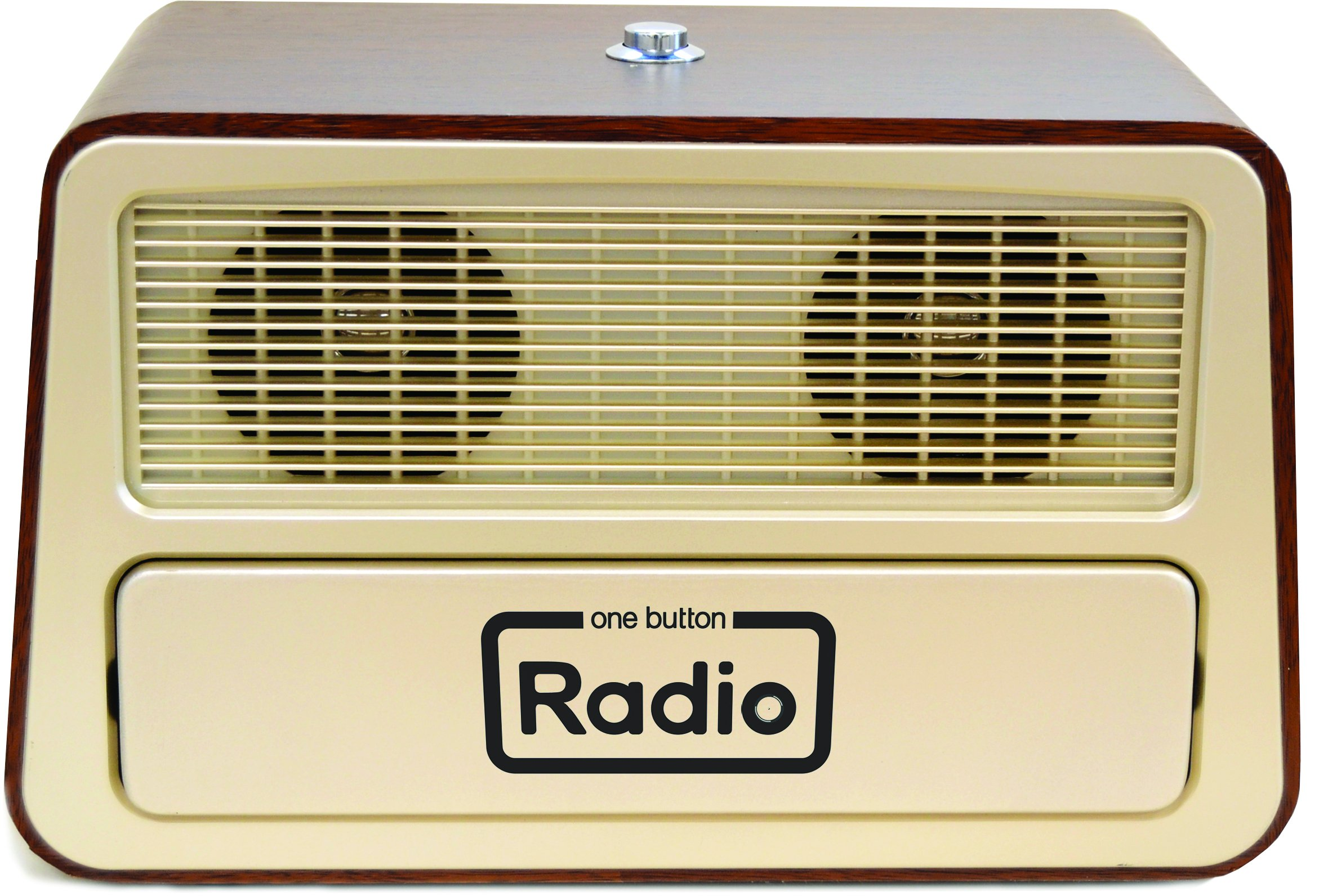 Memory Loss One Button Radio / Large Retro Style Radio 11.75''w x 7.25''h x 6.25''d by GeriGuard Solutions