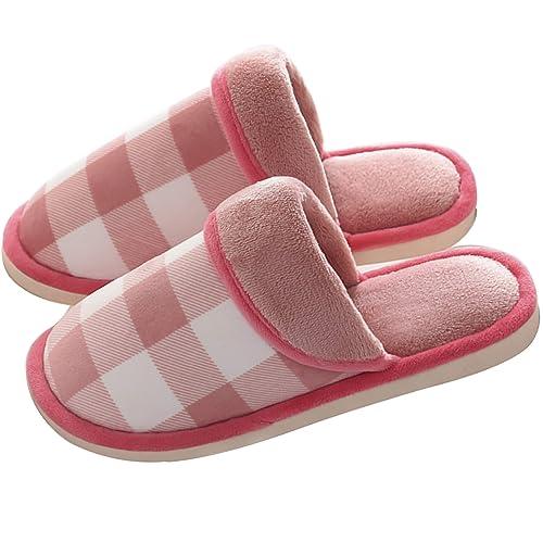 Zapatillas Casa Mujer Hombre,Invierno Calido Zapatillas,Algodón Zapatillas,Antideslizante Zapatilla de Estar por Casa,Cómodas Suave Flat Slipper: Amazon.es: ...
